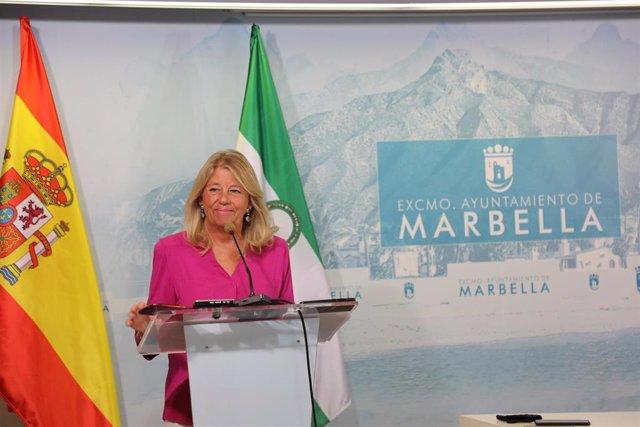 La alcaldesa de Marbella en rueda de prensa