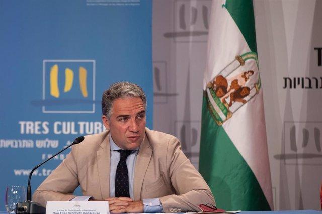 Archivo - El consejero de la Presidencia, Administración Pública e Interior, Elías Bendodo, en una imagen de archivo.