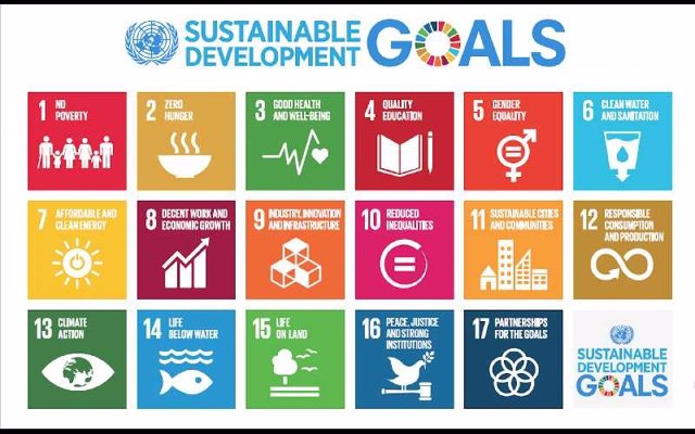 Los 17 Objetivos de Desarrollo Sostenible, adoptados el 25 de septiembre de 2015 como parte de la Agenda 2030.