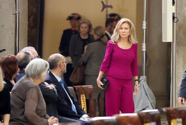Archivo - Alicia Koplowitz asiste a la ceremonia de entrega de los Premios Nacionales de Investigación 2019 en el Palacio Real de El Pardo, en Madrid (España), a 17 de febrero de 2020.