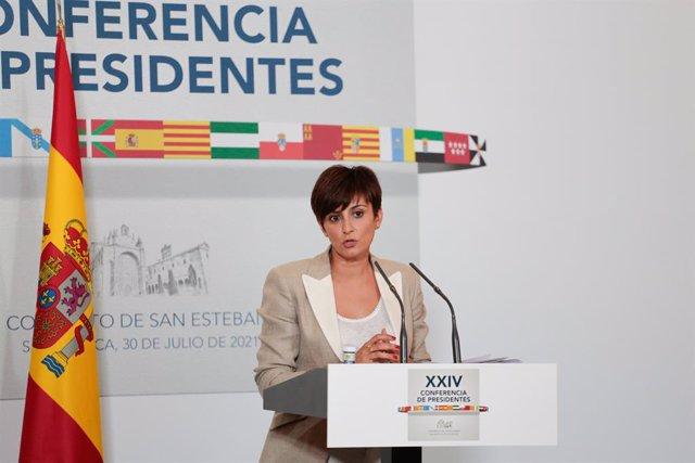 La ministra Portaveu i de Política Territorial, Isabel Rodríguez