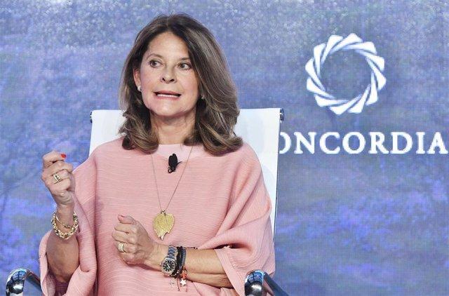 Archivo - La vicepresidenta de Colombia y ahora designada ministra de Exteriores, María Lucía Ramírez.