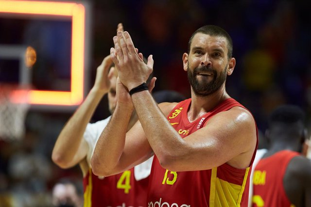 Marc Gasol of Spain during friendly match between Spain and France to preparation to Tokyo 2021 Olympics Games at Martin Carpena Stadium on July 08, 2021 in Malaga, Spain