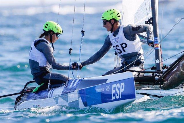 Tara Pacheco y Florian Trittel, diploma olímpico en Nacra 17