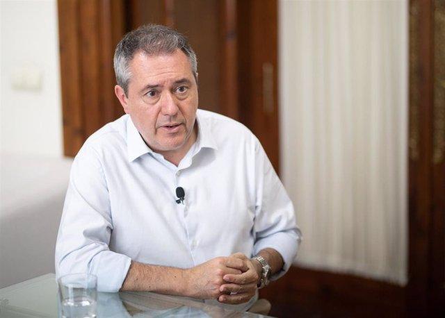 El alcalde de Sevilla y secretario general de PSOE-A,  Juan Espadas