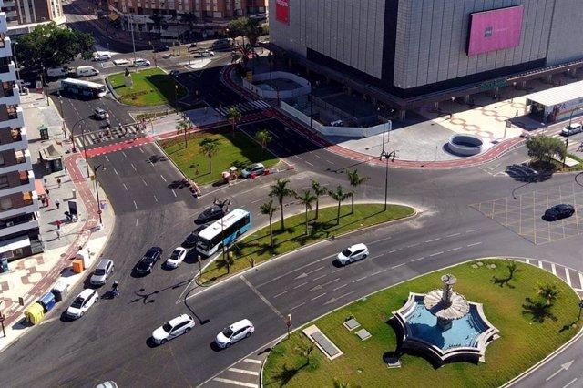 Vista aérea de Málaga en foto de archivo.