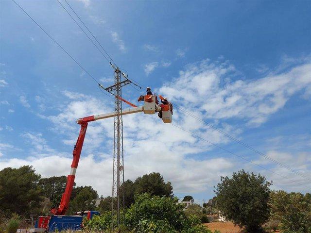 Trabajos de mantenimiento en la red de distribución de Endesa