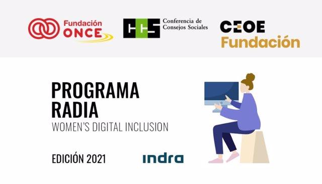 Archivo - Abierta la convocatoria del Programa RADIA, edición Indra 21/22, de formación tecnológica para mujeres con discapacidad