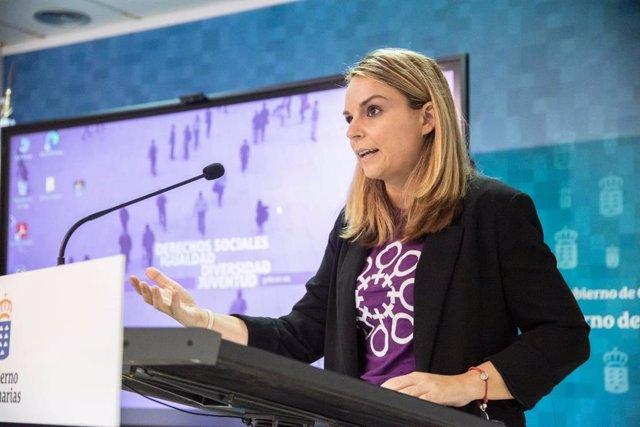 Archivo - La consejera de Derechos Sociales del Gobierno de Canarias, Noemí Santana