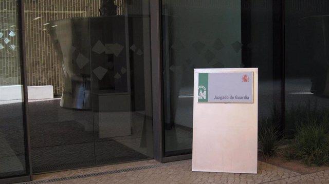 Archivo - Puerta de acceso al Juzgado de Guardia en la Ciudad de la Justicia de Córdoba