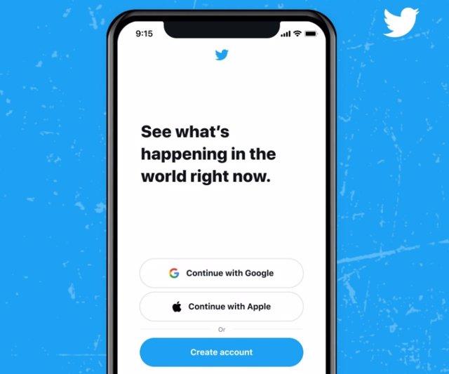 Inicio de sesión en Twitter con Apple ID y la cuenta de Google