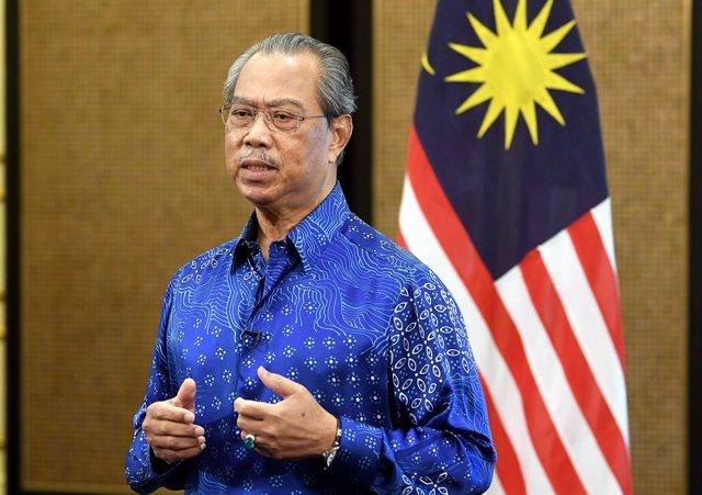 Archivo - El primer ministro de Malasia, Muhyidin Yasin.