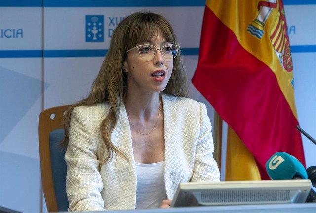 Archivo - La directora xeral de Formación e Colocación, Zeltia Lado, valora los datos del paro
