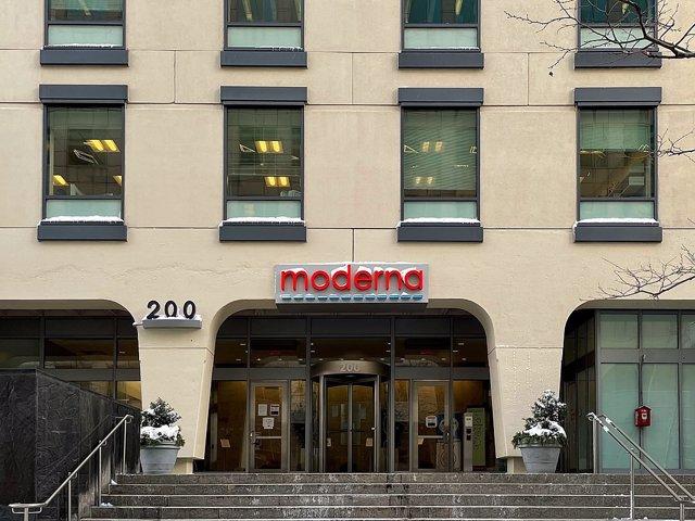 Archivo - Sede de la compañía Moderna en Cambridge, Massachusetts (Estados Unidos)