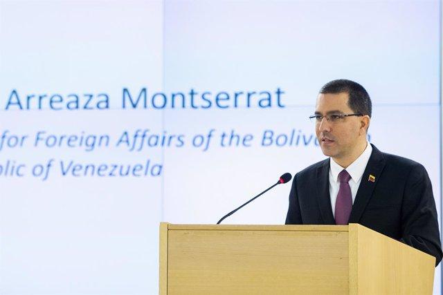 Archivo - El ministro de Exteriores de Venezuela, Jorge Arreaza
