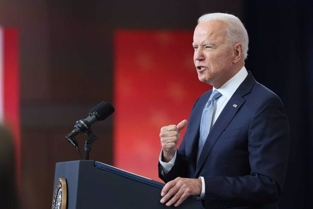 13 July 2021, US, Philadelphia: US President Joe Biden delivers remarks on actions to protect the sacred, constitutional right to vote at the National Constitution Center. Photo: Saquan Stimpson/ZUMA Wire/dpa