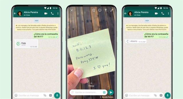 'Visualización única' en los mensajes temporales