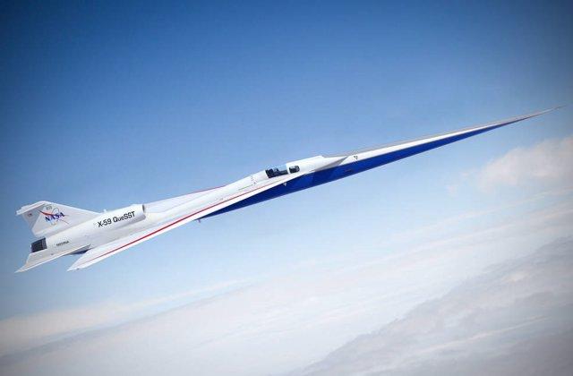 Archivo - Ilustración artística de un X-59 en vuelo