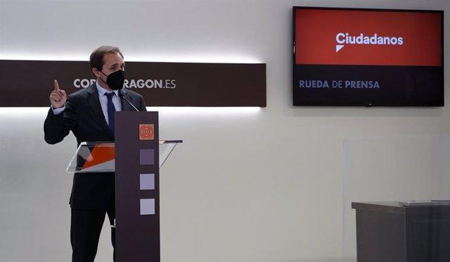 El portavoz de Educación de Ciudadanos en las Cortes de Aragón, Carlos Trullén.