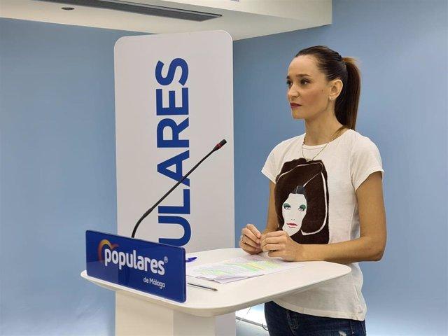 La portavoz del PP de Málaga, Elisa Pérez de Siles.