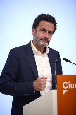 El vicesecretario general y portavoz del Comité Ejecutivo de Ciudadanos, Edmundo Bal.