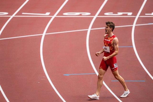 El atleta español Adrián Ben en los Juegos Olímpicos de Tokio