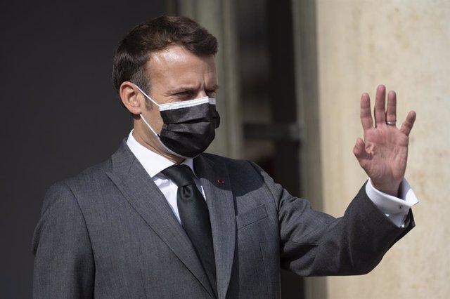 Archivo - El presidente de Francia, Emmanuel Macron.