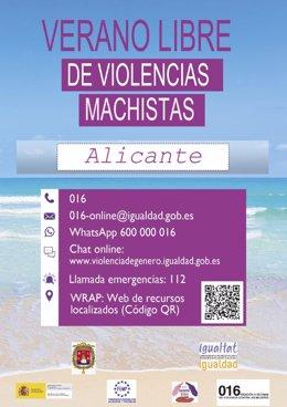 """Alicante se suma a la campaña """"Verano libre de violencias machistas"""" impulsada por la FEMP y el Gobierno"""