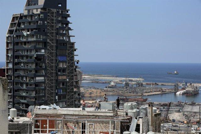 Archivo - Daños materiales causados por las explosiones registradas el 4 de agosto en el puerto de la capital de Líbano, Beirut