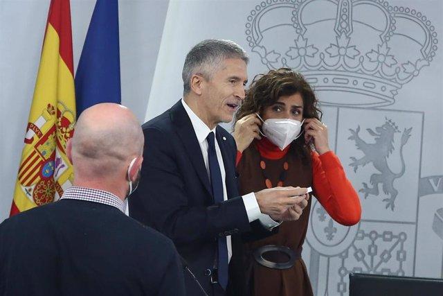 Archivo - El ministro de Interior, Fernando Grande-Marlaska y la ministra de Hacienda, María Jesús Montero