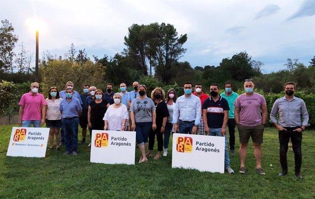 Encuentro del Comité Comarcal de Somontano del Partido Aragonés y del Comité Local de Barbastro de esta formación.