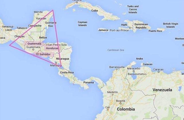Archivo - Imagen de archivo de los países que configuran el Triángulo Norte de Centroamérica.