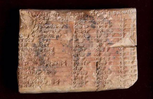 La tablilla podría haber sido utilizada en topografía y en el cálculo de cómo construir templos, palacios y pirámides.