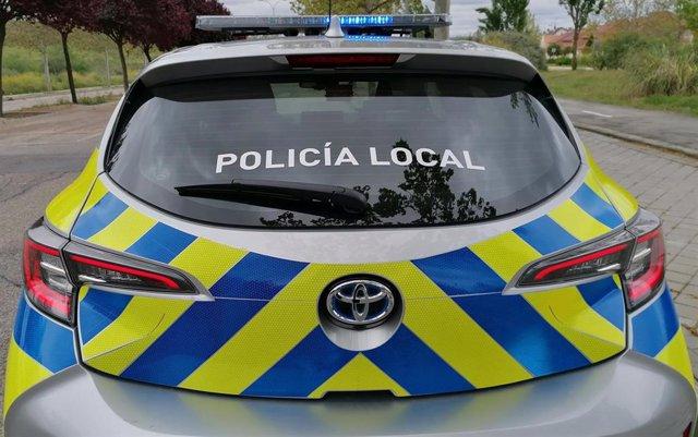 Un coche patrulla de la Policía Local de Rivas-Vaciamadrid