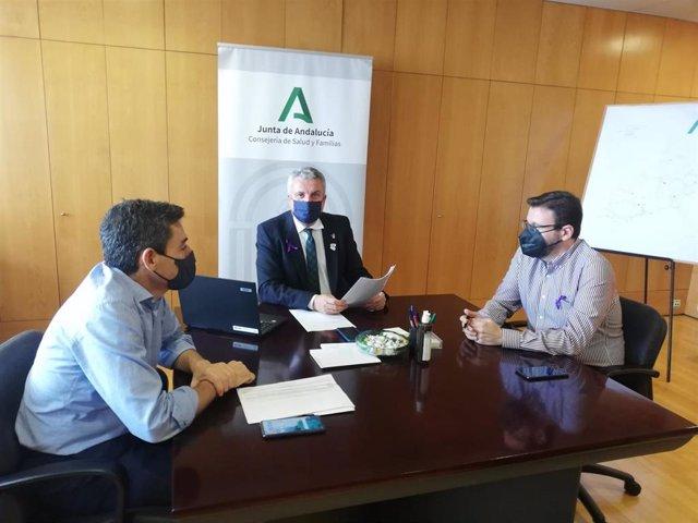 Archivo - Comité territorial de alerta de Salud Pública en Almería en una imagen de archivo