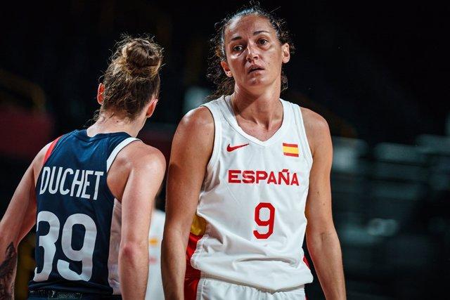 Laia Palau en el España-Francia