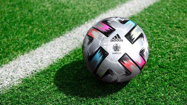 Archivo - Adidas lanza el Uniforia Finale, el balón para las Semifinales y la Final de la Eurocopa.