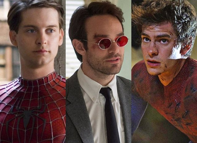 Tobey Maguire, Charlie Cox y Andrew Garfield