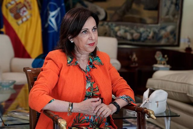 La ministra de Defensa, Margarita Robles, durante una entrevista con Europa Press, a 4 de agosto de 2021, en el Ministerio de Defensa, Madrid, (España).
