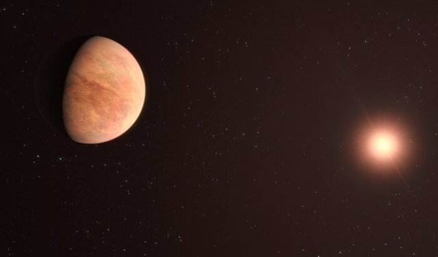 Recreación artística del sistema planetario L 98-59