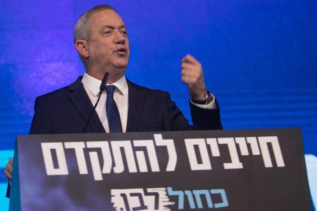Archivo - El ministro de Defensa de Israel, Benjamin Gantz