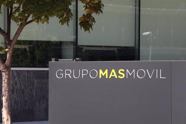 Archivo - Fachada de la empresa Grupo Mas Movil ubicada en Madrid