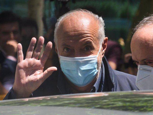 Archivo - El productor de televisión José Luis Moreno a su salida de la Audiencia Nacional.
