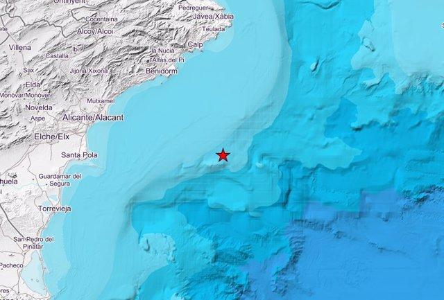 Terremoto frente a la costa de Santa Pola
