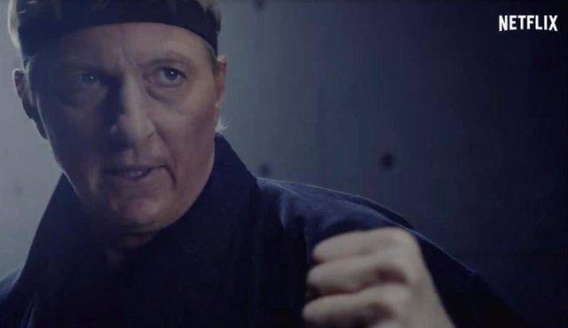 Escena del tráiler de la cuarta temporada de 'Cobra Kai'