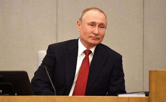 Archivo - Vladimir Putin en la Duma