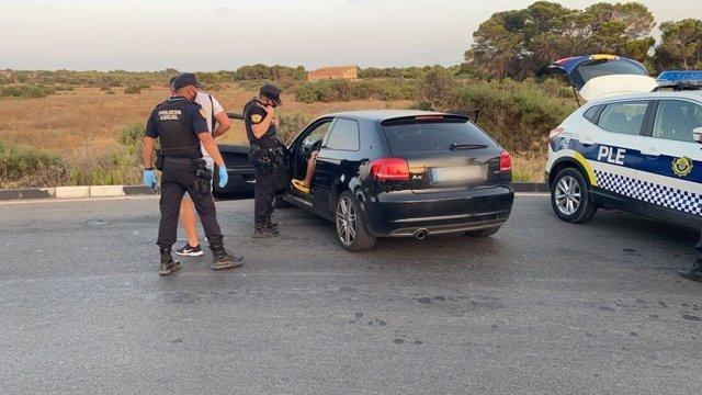 Detenido en Elche por circular sin carné y llevar 9,5 gramos de cocaína en el coche