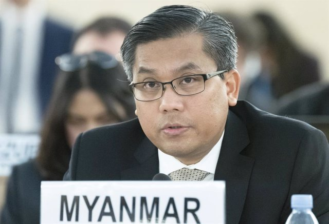 Archivo - Arxiu - El representant permanent de Birmània davant Nacions Unides, Kyaw Moe Tun.