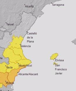 Avisos por calor activos este sábado en la Comunitat Valenciana