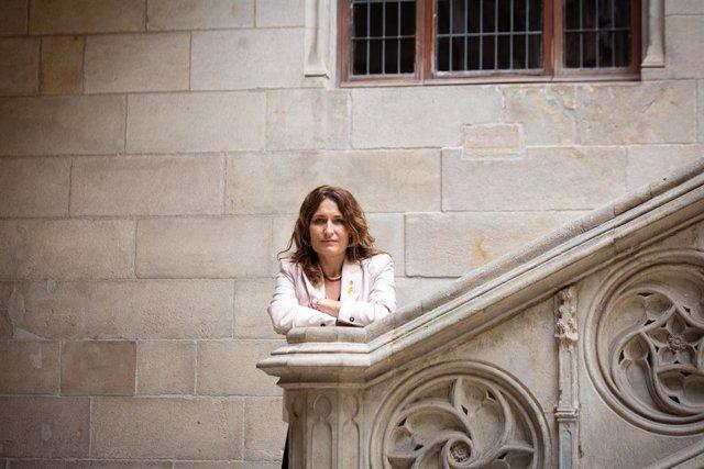 La consellera de Presidència de la Generalitat, Laura Vilagrà, en una entrevista d'Europa Press.